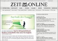 """Sonderausgabe """"Die Zeit"""" zur Krise"""