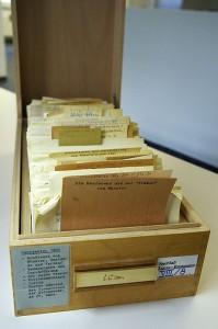 Archivkasten von E. Lucas im Stadt- und Vestischen Archiv Recklinghausen