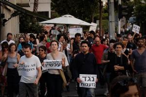 Protest in Tel Aviv für die Rechte von Flüchtlingen im Mai 2012. cc: Sasha Y. Kimel
