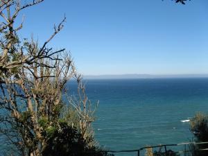 Blick von Tanger, Marocco, nach Tarifa, Spanien - der kürzeste Weg über das Mittelmeer