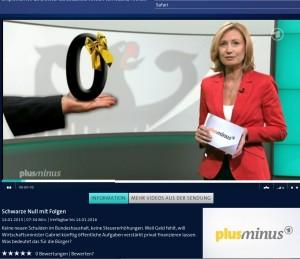 Bild: ARD Sendung plusminus